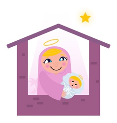 nativity bethlehem scene vector image
