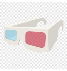 3d glasses cartoon icon vector
