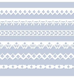 Seamless paper borders vector