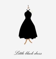 Woman black dress vector