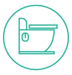 Toilet line icon vector