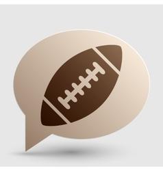 American simple football ball Brown gradient icon vector image vector image