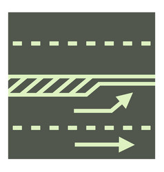 Autobahn icon cartoon style vector