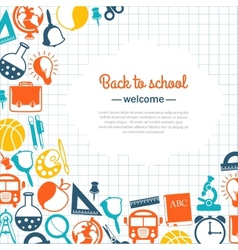 back to school background for school vector image