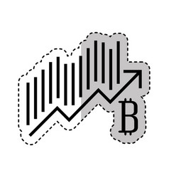 Bitcoin statistics graphic icon vector