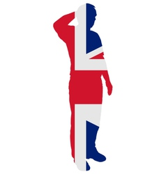 British Salute vector image vector image