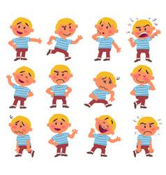 cartoon character white boy vector image