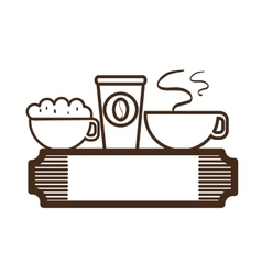 Coffee restaurant emblem icon vector