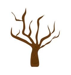 Dry tree icon vector