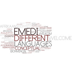 emedi word cloud concept vector image