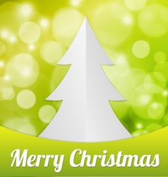 Fold Paper Christmas tree vector image