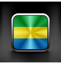 Gabon icon flag national travel icon country vector