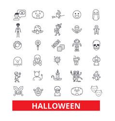 halloweencelebrationholidayhorrorpumpkin vector image vector image