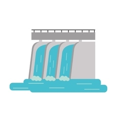 Hydroelectric station plant water dam vector