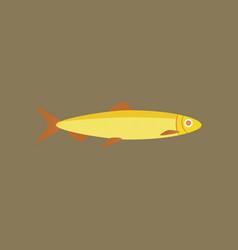 in flat style herring vector image