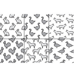 kids seamless pattern animals vector image vector image