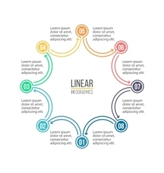 Linear infographics minimalistic chart diagram vector