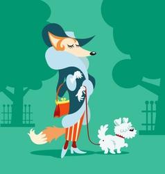 Mrs fox vector