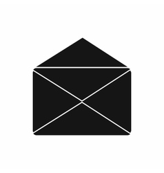 Open envelope icon simple style vector image vector image