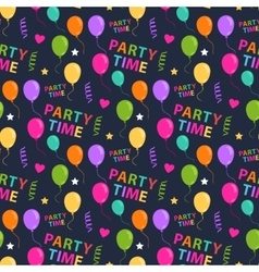 Party seamless pattern vector image