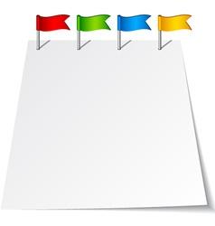 Push pin flags vector