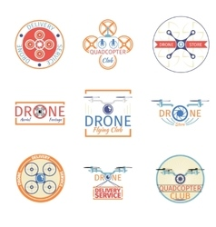Quadrocopter badges vector image