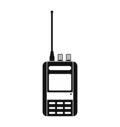Radio black simple icon vector