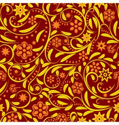 seamless with orange flowers vector image