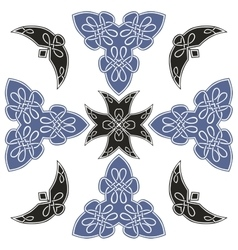set of beautiful Celtic patterns vector image vector image