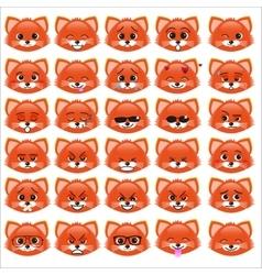 Set of funny kitten emoticons vector