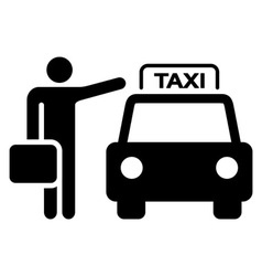 Taxi sign silhouette vector