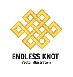 The endless knot Graphic ornament composed of vector image