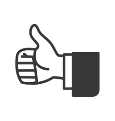 Thumbs up icon Hand design graphic vector image vector image