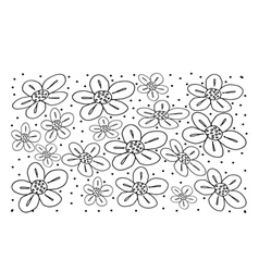 White vintage wallpaper with flower pattern vector