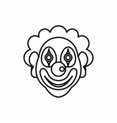 Clown icon in outline style vector