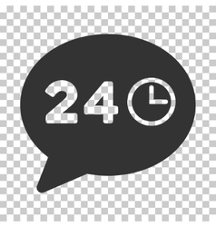 Message hours icon vector
