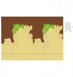 gift bag with grapes vector image
