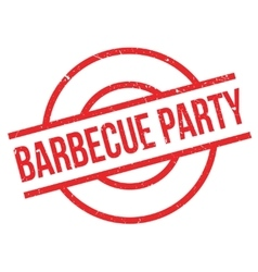 Barbecue Party rubber stamp vector image