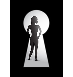 Woman key hole vector
