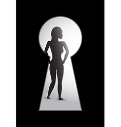 woman key hole vector image