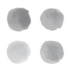Grey watercolor splash vector