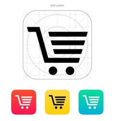 Shopping cart trolley icon vector