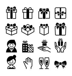 Gift box icon set vector
