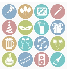 white icons party vector image