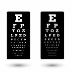 Sharp and unsharp black snellen chart vector