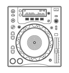 Outline dj cd player vector