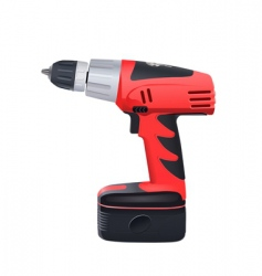 battery drill vector image
