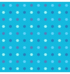 Blue winter seamless pattern with snowflakes vector