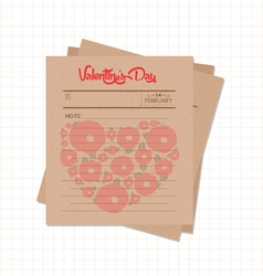 Happy valentines day notes retro vector