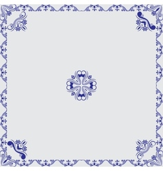Ornamental frame with center vector